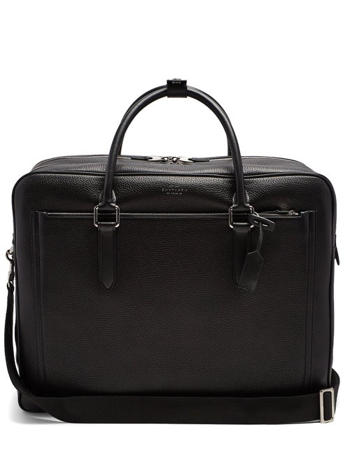 Smythson | Smythson - Burlington Leather Holdall - Mens - Black | Clouty