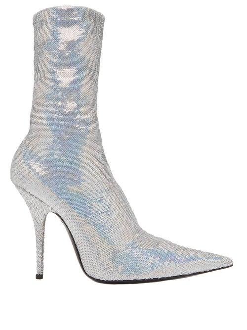 Balenciaga | Balenciaga - Knife Bootie - Womens - Silver | Clouty