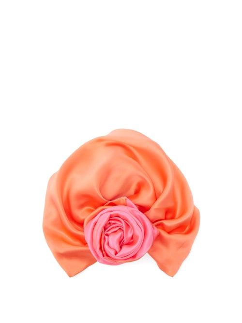 Julia Clancey | Julia Clancey - Reversible Silk Turban Hat - Womens - Pink | Clouty