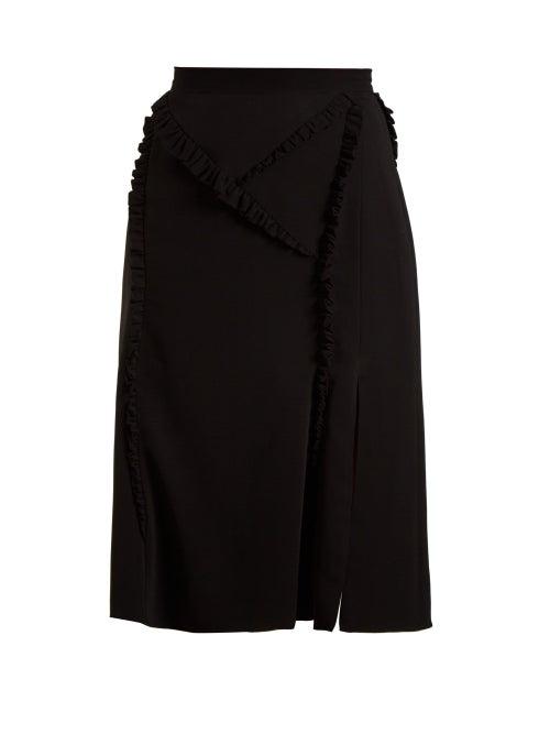 Altuzarra | Altuzarra - Minaret Ruffle Trimmed Skirt - Womens - Black | Clouty
