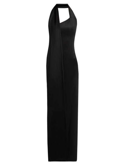 LANVIN | Lanvin - Halterneck Jersey Dress - Womens - Black | Clouty