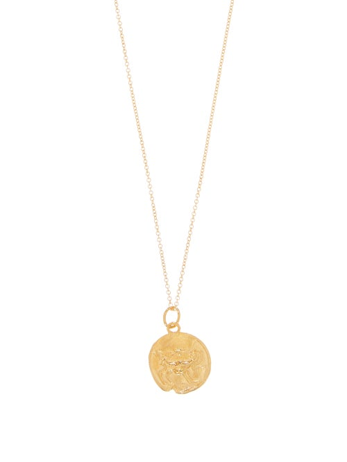 Alighieri | Alighieri - Aries Gold-plated Necklace - Womens - | Clouty