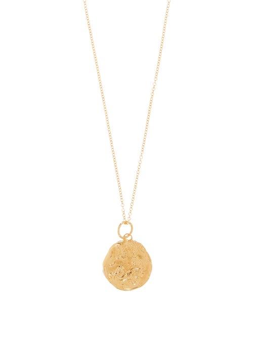Alighieri   Alighieri - Capricorn Gold-plated Necklace - Womens -   Clouty