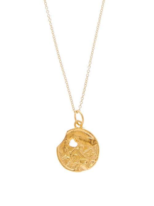 Alighieri | Alighieri - Aquarius Gold-plated Necklace - Womens - | Clouty