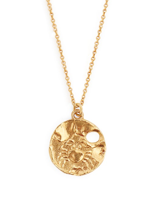 Alighieri | Alighieri - Cancer Gold-plated Necklace - Womens - | Clouty