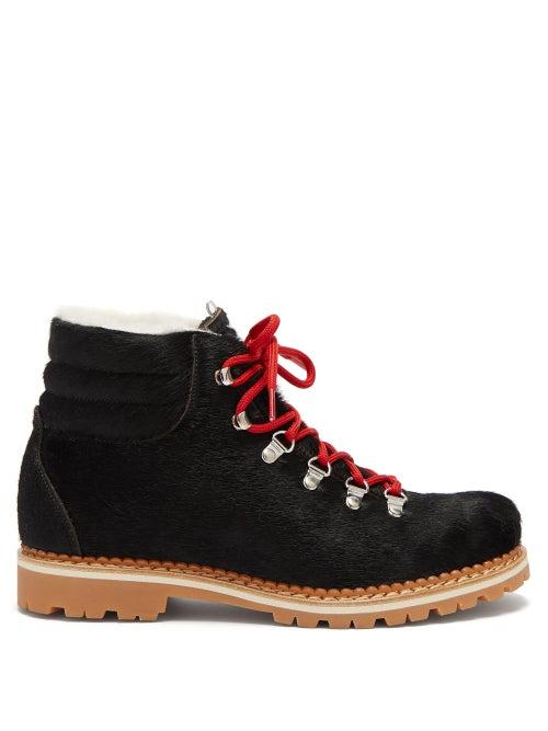 Montelliana | Montelliana - Margherita Calf Hair Boots - Womens - Black | Clouty