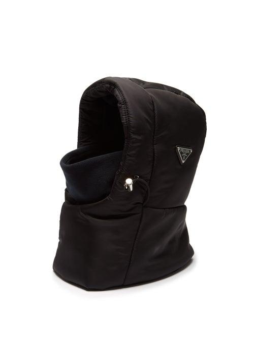 PRADA   Prada - Padded Nylon Snow Hat - Mens - Black   Clouty