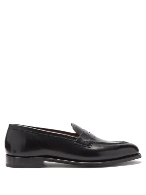 Grenson | Grenson - Lloyd Leather Penny Loafers - Mens - Black | Clouty