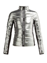Фото Paco Rabanne - Bodyline Quilted Down Jacket - Womens - Silver