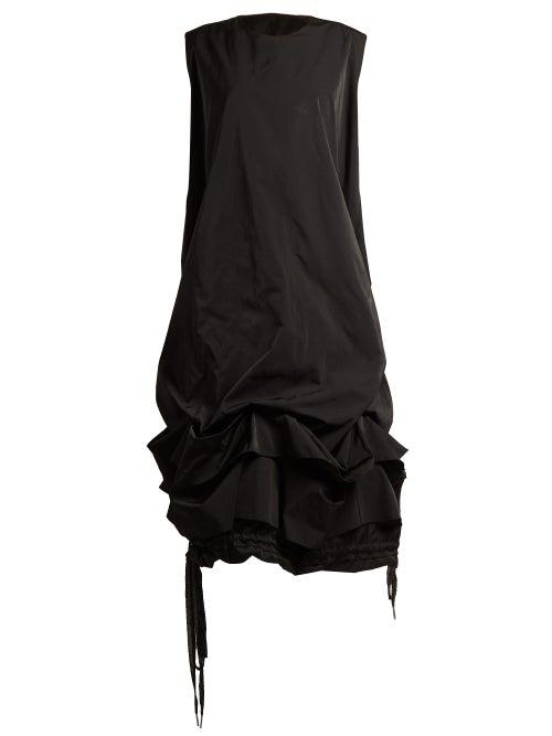 J.W. Anderson | Jw Anderson - Gathered Drawstring Hem Taffeta Dress - Womens - Black | Clouty