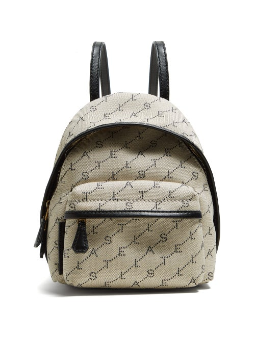 Stella McCartney | Stella Mccartney - Logo Print Backpack - Womens - Cream Multi | Clouty