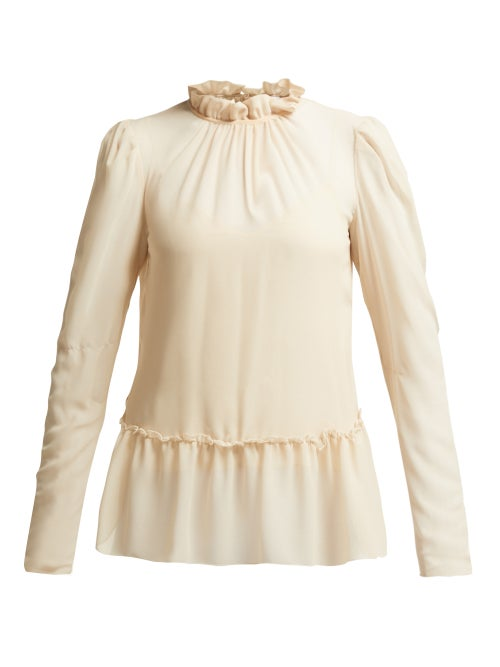See by Chloé | See By Chloe - Ruffled Georgette Blouse - Womens - Ivory | Clouty
