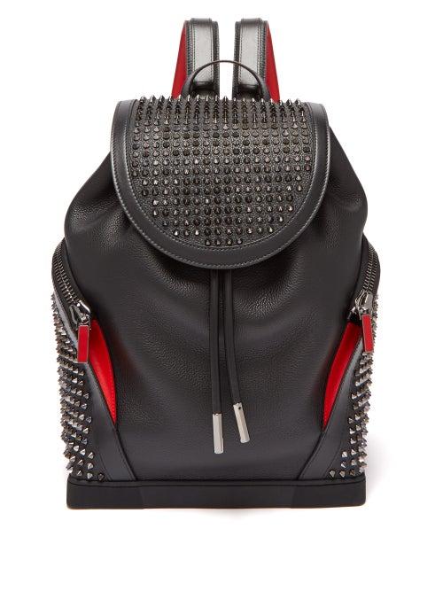 Christian Louboutin | Christian Louboutin - Explorafunk Spike-embellished Backpack - Mens - Black Multi | Clouty