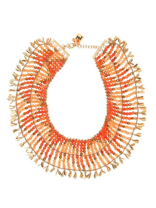 Rosantica | Rosantica - Indios Beaded Necklace - Womens - Orange | Clouty