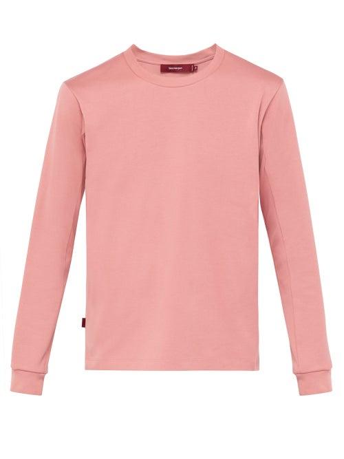 Sies Marjan | Sies Marjan - James Long Sleeved Cotton T Shirt - Mens - Pink | Clouty