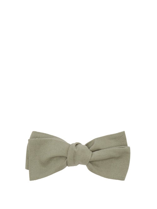 Comme Les Loups   Comme Les Loups - Camden Cotton-twill Bow Tie - Mens - Green   Clouty