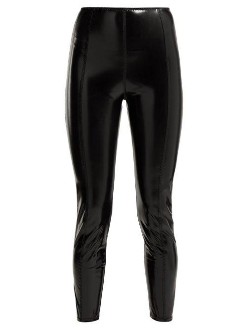 Lisa Marie Fernandez | Lisa Marie Fernandez - Karlie Pvc Leggings - Womens - Black | Clouty