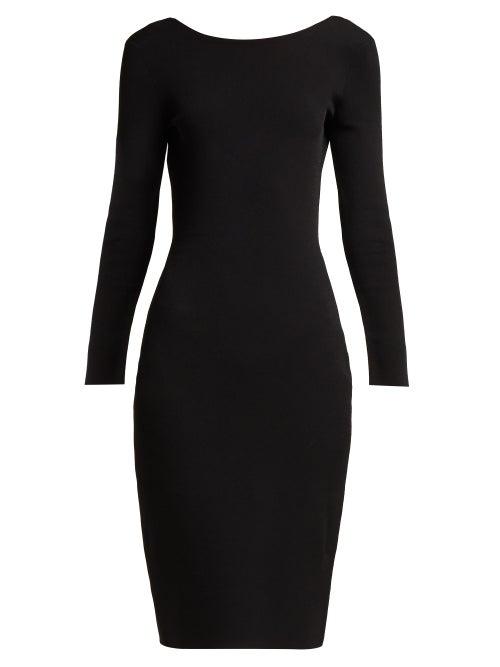 The Row | The Row - Darta Scoop-back Midi Dress - Womens - Black | Clouty