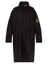 2 Moncler 1952 - Greg Logo Embroidered Oversized Parka - Mens - Black