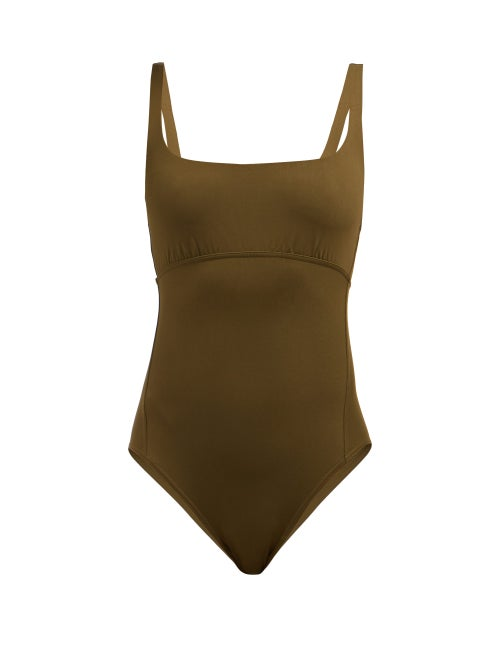Eres | Eres - Duni Arnaque Scoop Neck Swimsuit - Womens - Khaki | Clouty
