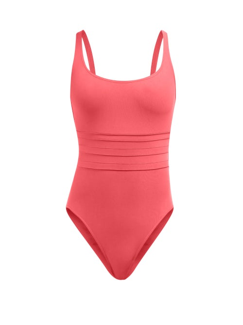 Eres | Eres - Les Essentials Duni Asia Ribbed Swimsuit - Womens - Pink | Clouty