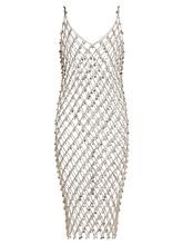 Фото Paco Rabanne - Crystal Embellished Chain Dress - Womens - Silver