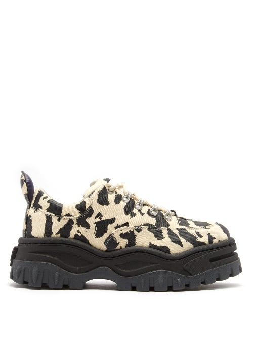 Eytys | Eytys - Angel Exaggerated Sole Leather Trainers - Womens - Leopard | Clouty