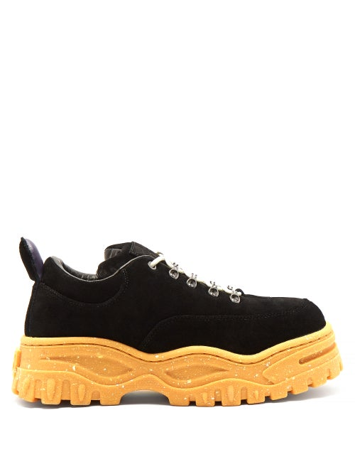 Eytys   Eytys - Angel Exaggerated Sole Leather Trainers - Mens - Black   Clouty