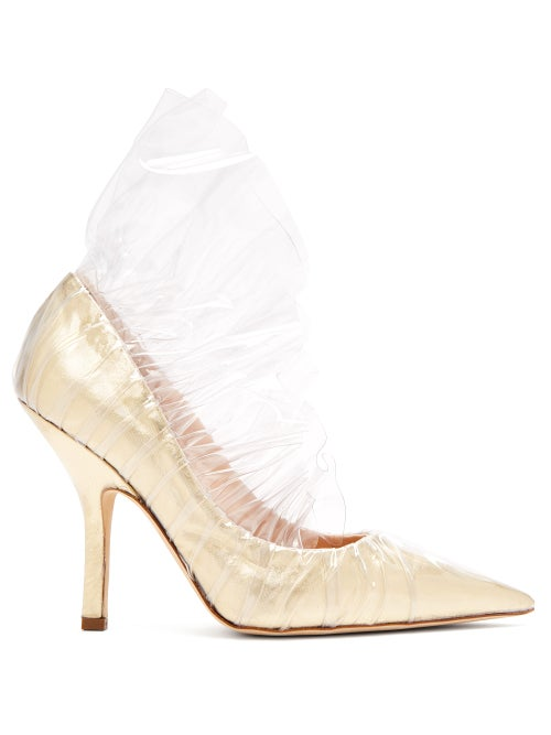 midnight 00 | Midnight 00 - Shell Metallic Pvc Pumps - Womens - Light Gold | Clouty