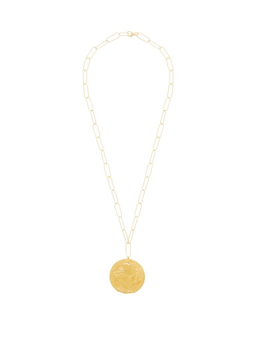Alighieri | Alighieri - Il Leone 24kt Gold-plated Necklace - Womens - | Clouty