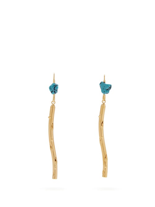 Marni | Marni - Stick Hook Earrings - Womens - Blue | Clouty