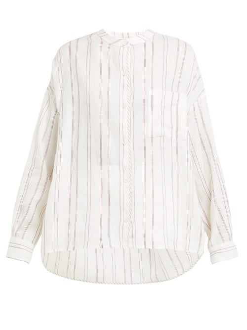 Max Mara Weekend | Weekend Max Mara - Vicino Shirt - Womens - Burgundy White | Clouty