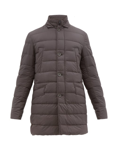Herno   Herno - Il Cappotto Quilted-down Coat - Mens - Grey   Clouty