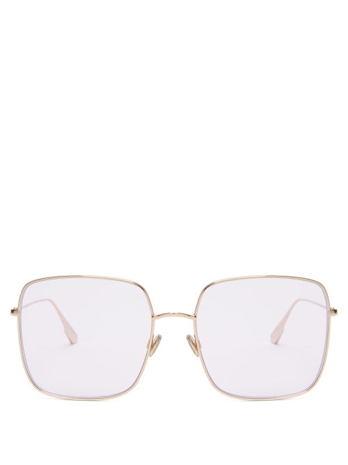 Dior | Dior Eyewear - Diorstellaire Iridescent Square Sunglasses - Womens - Pink | Clouty