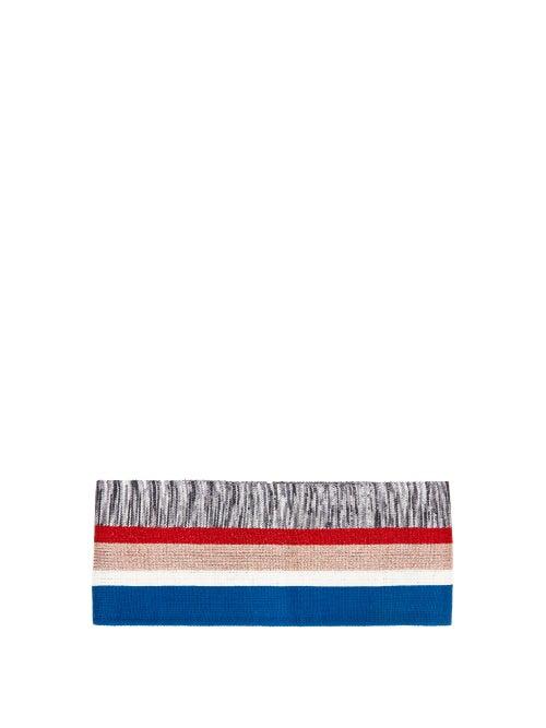 Missoni | Missoni - Metallic-stripe Lurex Belt - Womens - Blue | Clouty