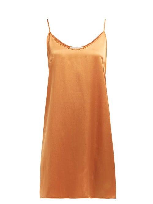 Araks   Araks - Pearl Silk Slip Dress - Womens - Orange   Clouty