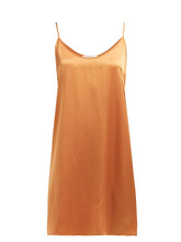 Araks - Pearl Silk Slip Dress - Womens - Orange