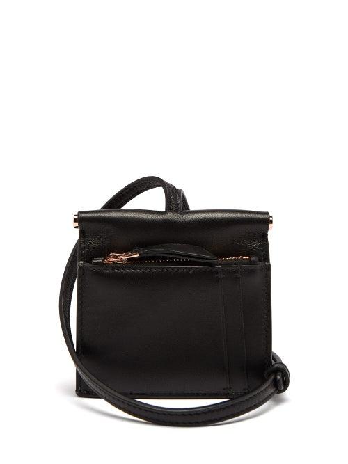Gabriela Hearst | Gabriela Hearst - Maria Mini Leather Necklace Bag - Womens - Black | Clouty