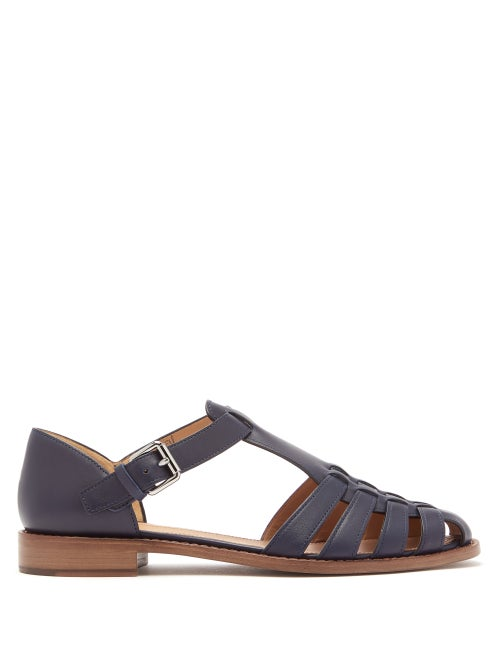 Church's   Church's - Kelsey Leather Sandals - Womens - Navy   Clouty