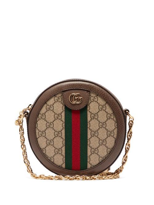 GUCCI | Gucci - Ophidia Gg Supreme Canvas Cross-body Bag - Womens - Grey Multi | Clouty