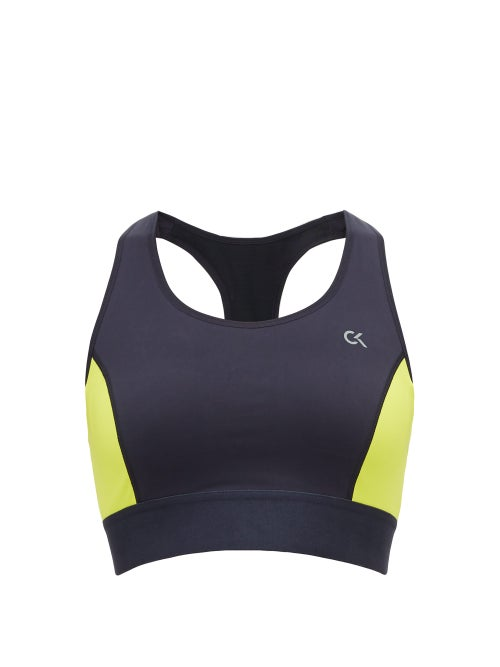 Calvin Klein | Calvin Klein Performance - High-impact Racer-back Sports Bra - Womens - Black | Clouty