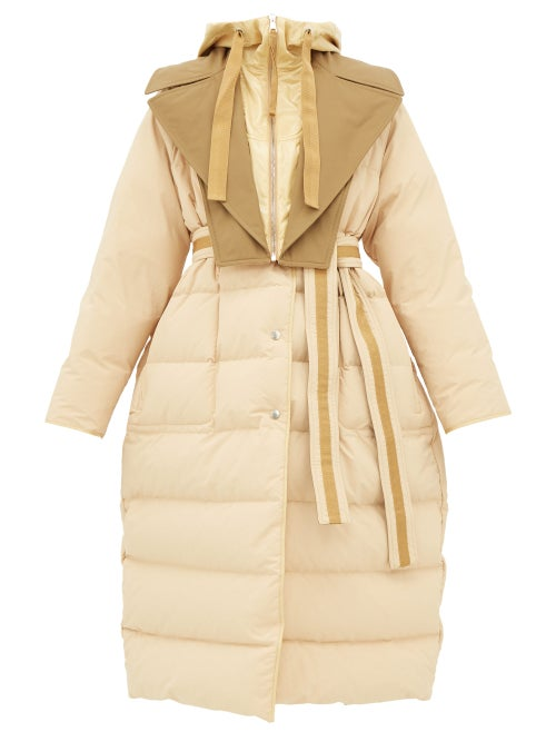 Moncler Genius | 2 Moncler 1952 - Glomma Wrinkled Shell-down Coat - Womens - Beige | Clouty