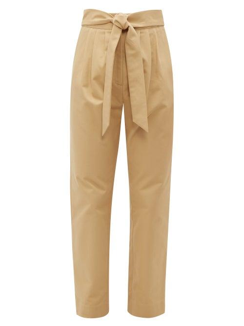 Merlette | Merlette - Kinabalu Cotton-twill Trousers - Womens - Brown | Clouty