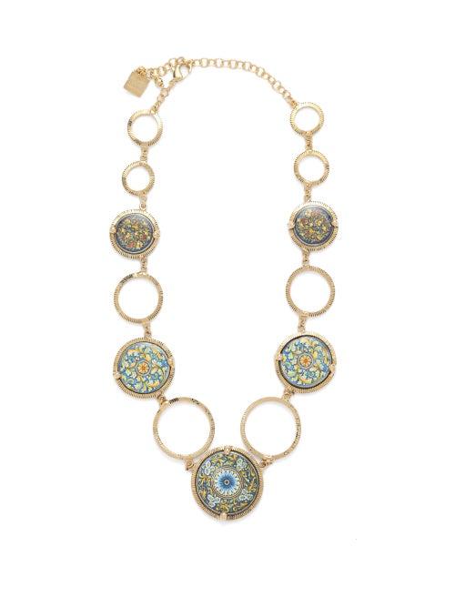 Rosantica | Rosantica - Sicilia Tile Necklace - Womens - Multi | Clouty