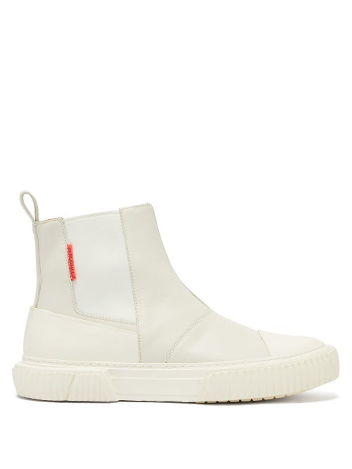 Both | Both - Raised-sole Leather Chelsea Boots - Mens - White | Clouty