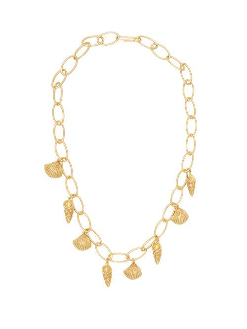 Aurélie Bidermann | Aurelie Bidermann - Panama Shell-charm 18kt Gold-plated Necklace - Womens - | Clouty