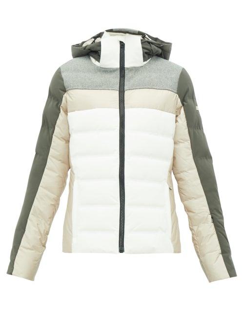 Capranea | Capranea - Cloud Quilted Down Ski Jacket - Womens - Beige | Clouty
