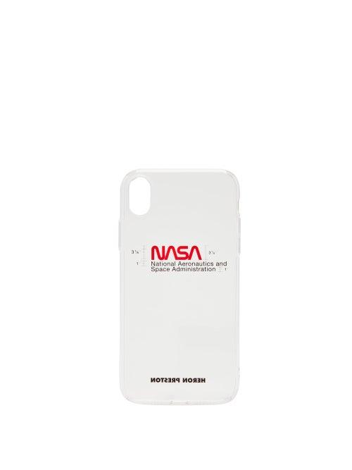 Heron Preston | Heron Preston - Nasa-print Iphone® Xr Case - Mens - Clear | Clouty