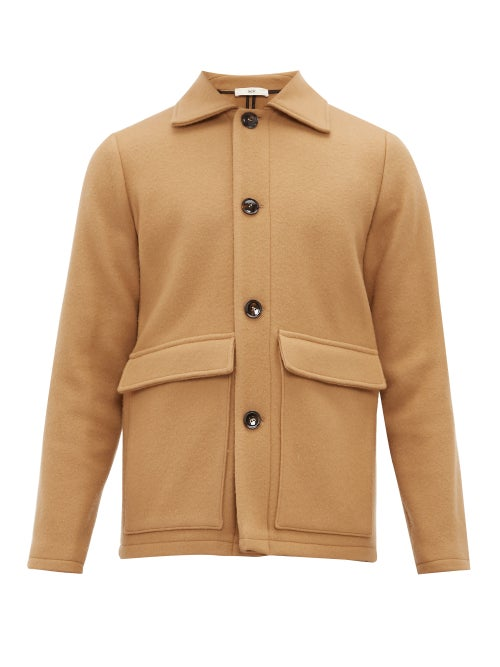 Sefr   Sefr - Keith Wool Blend Jacket - Mens - Camel   Clouty