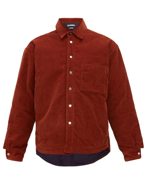 Jacquemus | Jacquemus - Boulanger Cotton Corduroy Overshirt - Mens - Dark Orange | Clouty